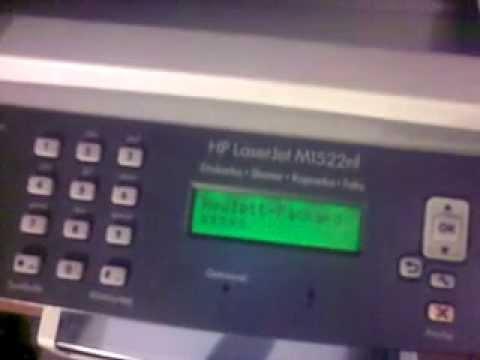 Hp M1522nf naprawa błędu 5, 8 + formater