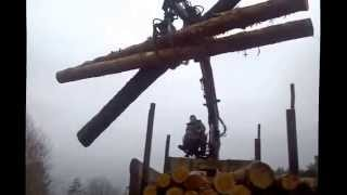 Погрузка леса гидроманипулятором
