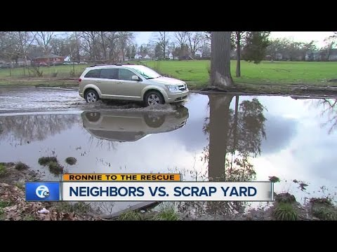 Neighbors Battle Scrap Yard