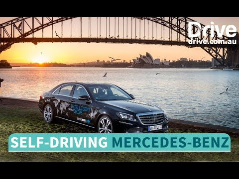 What we learned riding shotgun in a self-driving Mercedes   Drive.com.au - Dauer: 6 Minuten, 32 Sekunden