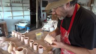 Simon Leach Pottery Tv - Dusting, Glazing Jam Pots - Sept 18th
