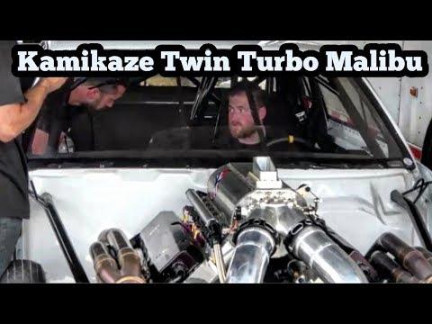 Street Outlaws Kamikaze Driving a Twin Turbo Malibu Small Tire at Armageddon