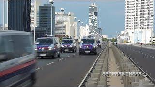 Massenanfahrt Wiener Polizei | mitten auf der Reichsbrücke