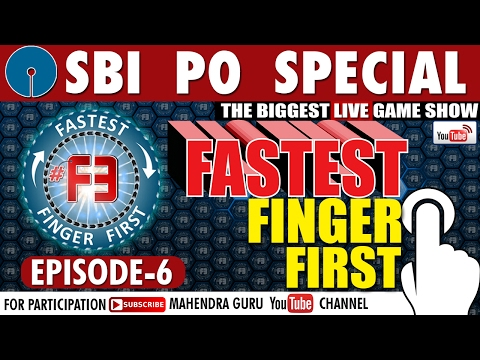 f3 sbi po 2017 special fastest finger first episode 06 15 february 2017 youtube. Black Bedroom Furniture Sets. Home Design Ideas