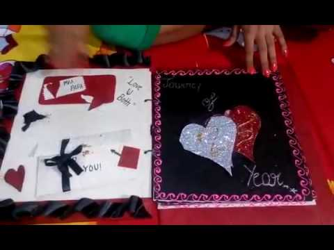 Th anniversary card for mom dad hand made card must watch