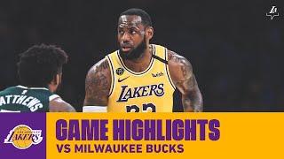 HIGHLIGHTS   Los Angeles Lakers Vs. Milwaukee Bucks