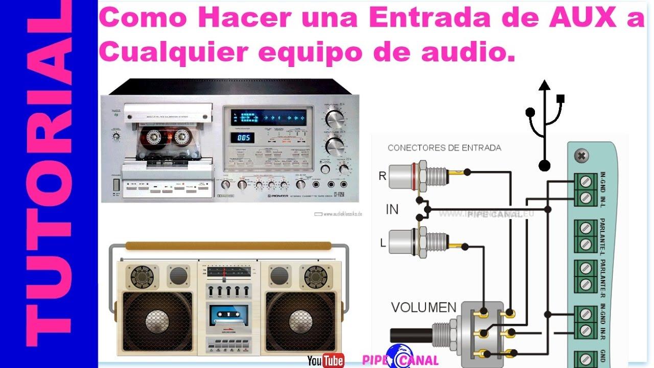Town And Country Auto >> Como Hacer Una Entrada de AUX a Cualquier Equipo de Audio ( ENTRADA DE AUXILIAR ) - YouTube