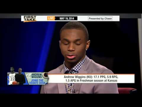 Andrew Wiggins Interview On ESPN First Take