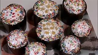 ЗАВАРНЫЕ КУЛИЧИ с цукатами и коньяком/Easter cake with candied fruit