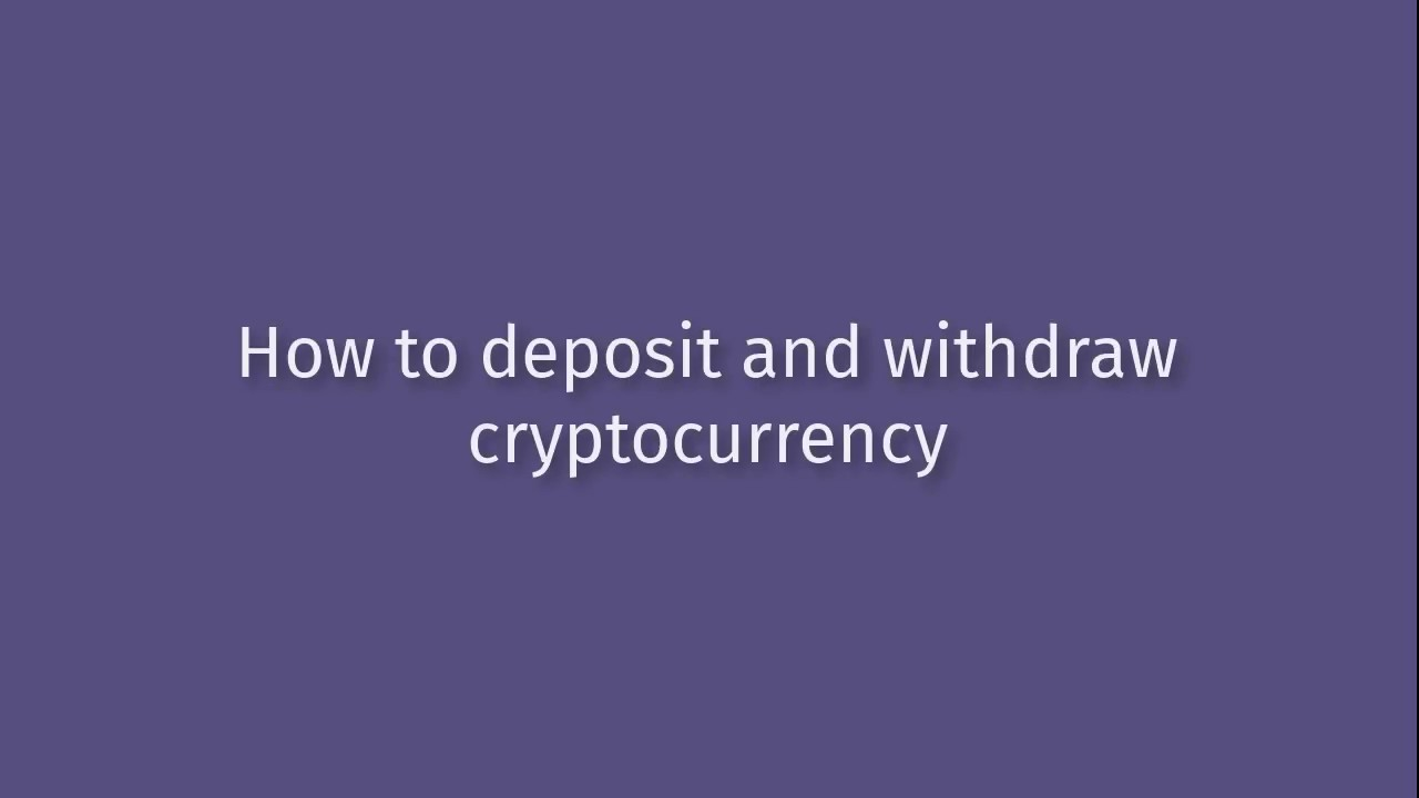 withdraw cryptocurrency canada