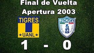 Tigres UANL vs Pachuca 1-0 Final de Vuelta Apertura 2003