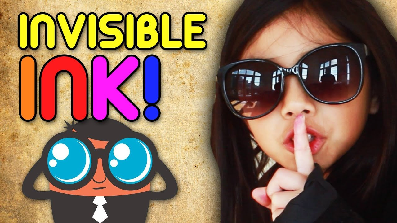 how to write with invisible ink