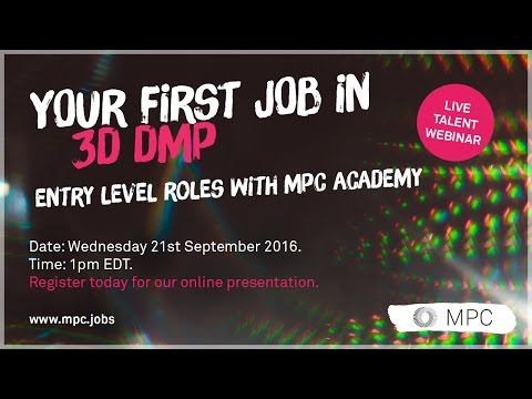 Your First Job in 3DDMP with MPC Academy - Webinar Presentation