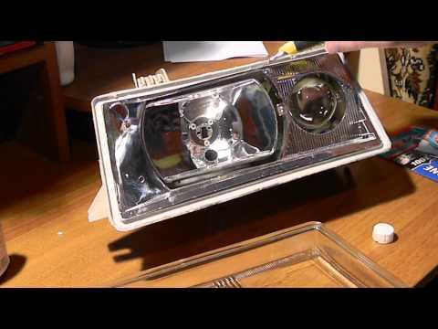 Cмотреть Как вклеить стекло в фару ВАЗ 2110-2112 ч.1