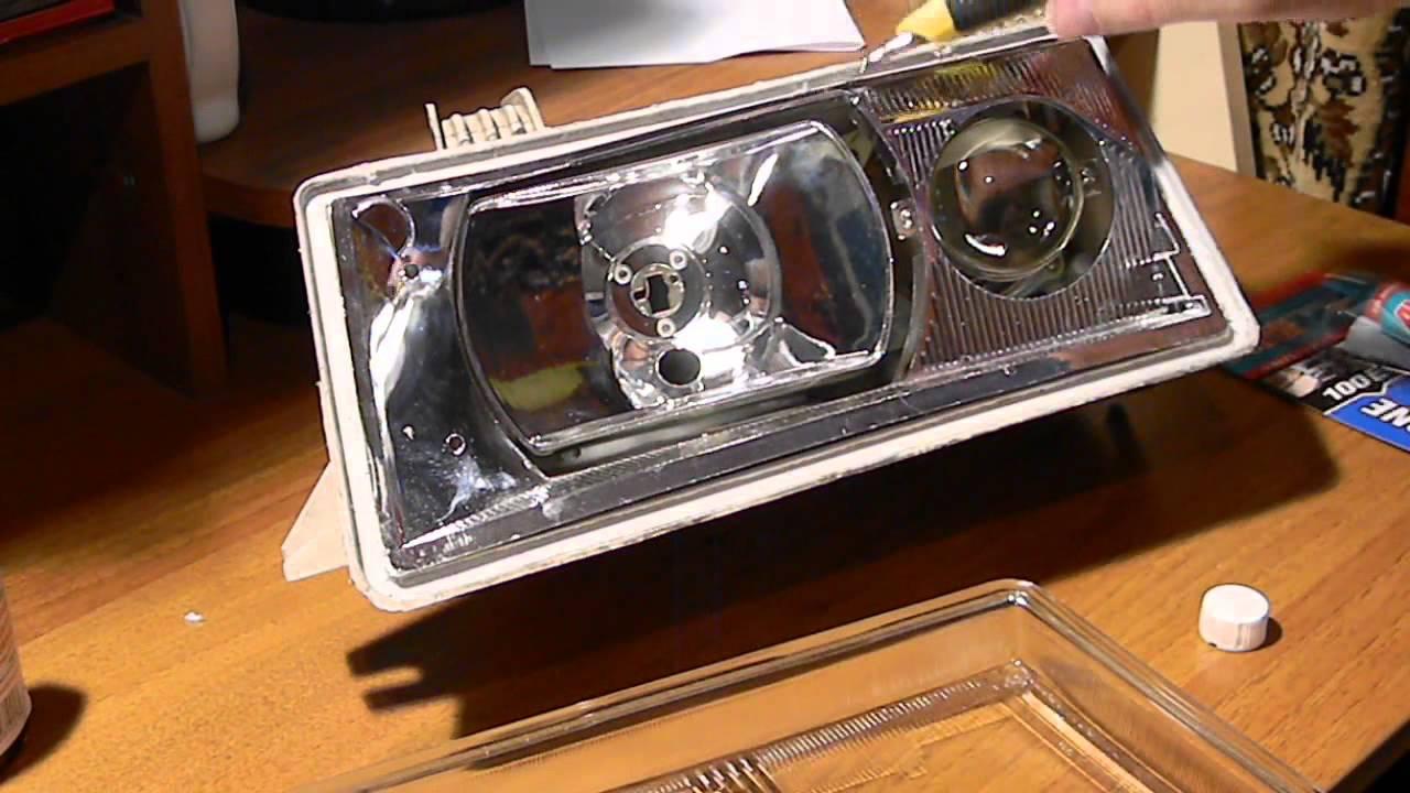 Как вклеить стекло в фару ВАЗ 2110-2112 ч.1