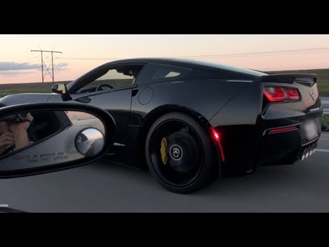 Corvette C7 Zr1 >> 2014 C7 Corvette battles modded C6 Corvette! - YouTube