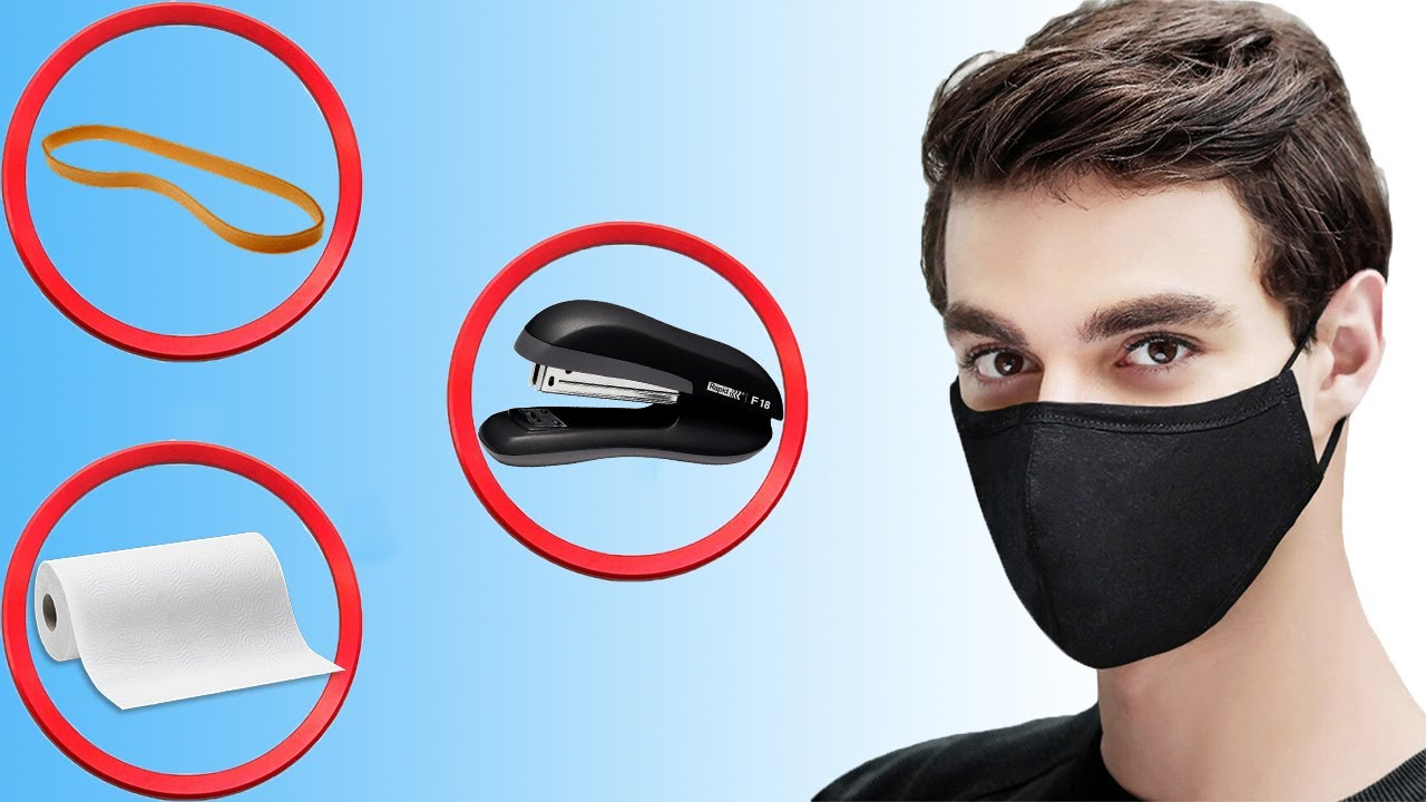 Evde Cerrahi Maske Yapılışı [3 MALZEME] CORONA VİRÜSÜNDEN KORUNUN!
