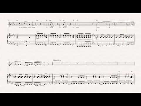 Horn  - Welcome to the Jungle - Guns N' Roses -  Sheet Music, Chords, & Vocals