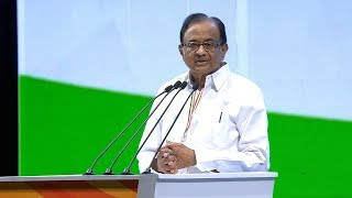 P Chidambaram Speech at the Congress Plenary Session 2018
