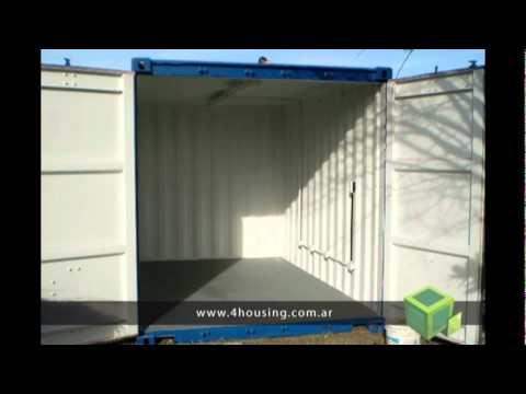 Talleres y pa oles hechos con contenedores mar timos 4housing youtube - Como hacer una casa con un contenedor maritimo ...