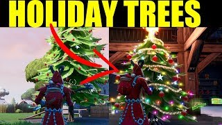 "Fortnite - ""Dance In front of Different Holiday trees"" All Holiday tree location 14 Days of Fortnite"