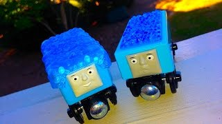Thomas Wooden Railway 2014 Online Exclusive Accessories Pack Logan Big Blue Engine Percy Little Goat