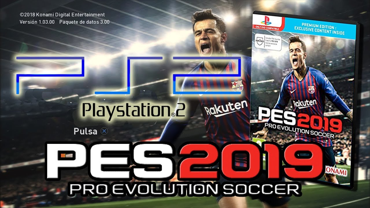 Pes 2019 Ps2 Gameplay Español Pes 2019 Playstation 2 Version Final Youtube