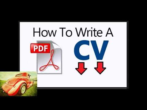 Write Cv Pdf Step By Step