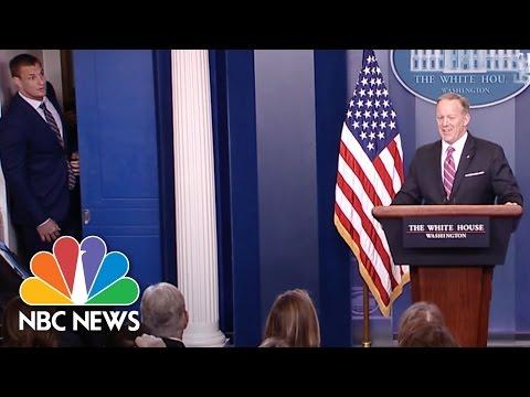 Patriots Star Rob Gronkowski Crashes The White House Briefing   NBC News