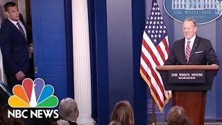 Patriots Star Rob Gronkowski Crashes The White House Briefing | NBC News