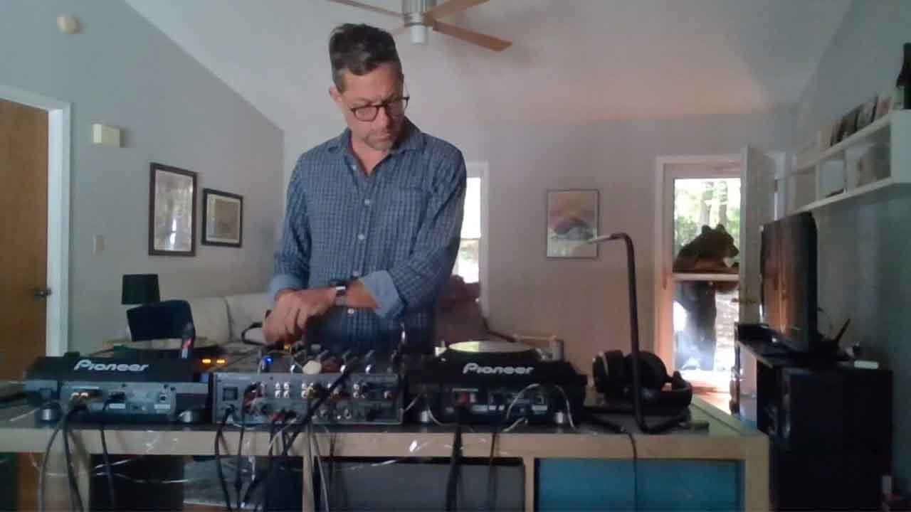 Wild Black Bear Interrupts DJ Set At Home