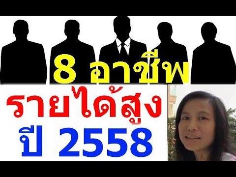ณภัชชาแนะแนว Ep.3 อาชีพ 8 อันดับทำรายได้สูงสุดของไทยปี 2558