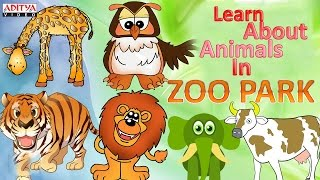 Let's Learn About Animals In Zoo Park - Pre And Play School Kids Learning Rhymes