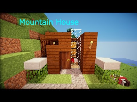 Minecraft small mountain house hd youtube for How to build a house in a mountain