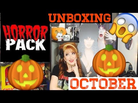 Horror Pack October 2016 Unboxing Horror Movies BluRay DVD Car Vlog Style Halloween