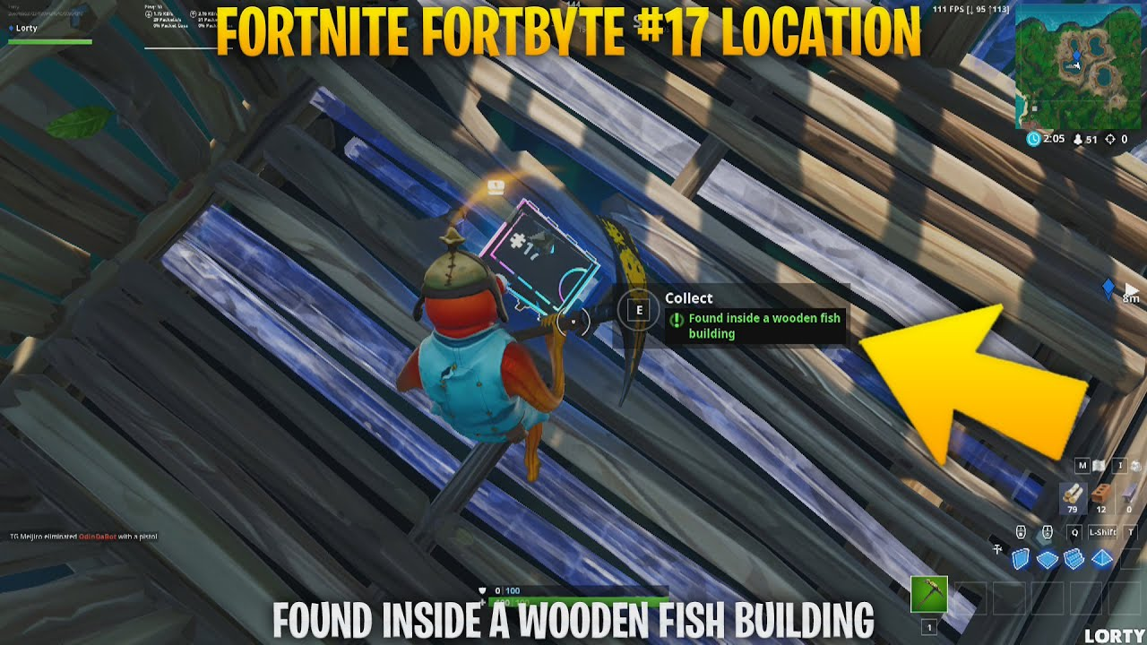 Fortnite Fortbyte 17 Found Inside A Wooden Fish Building