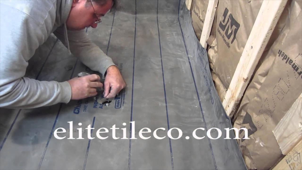 complete tile shower install studs to tile part 3 installing the pan liner youtube