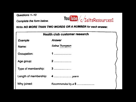 Ielts Listening Test From Real Exam 26 Hard With Key