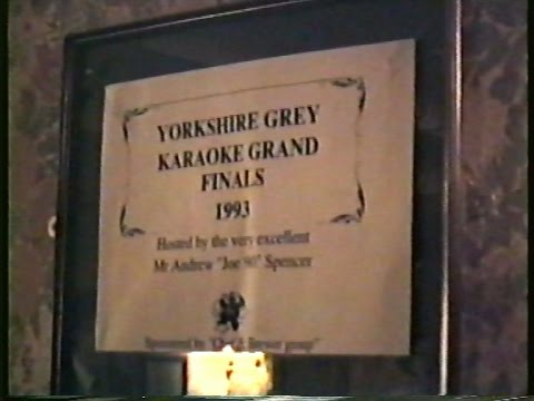 Yorkshire Grey Karaoke Grand Finals 1993