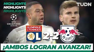 Highlights | Olympique Lyonnais 2 - 2 Leipzig | Champions League - J 6 - Grupo G | TUDN