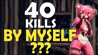 40 KILLS ALONE? | WORLD RECORD | MOST KILLS EVER IN FORTNITE HISTORY - (Fortnite Battle Royale) thumbnail