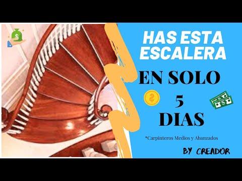 Como hacer escaleras de madera curva to make wood - Como hacer escaleras de madera ...