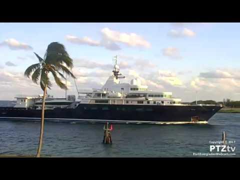 LE GRAND BLEU Superyacht Arrives Port Everglades 4/9/2017