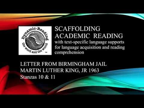 MLK Letter from Birmingham Jail Stanzas 10-12