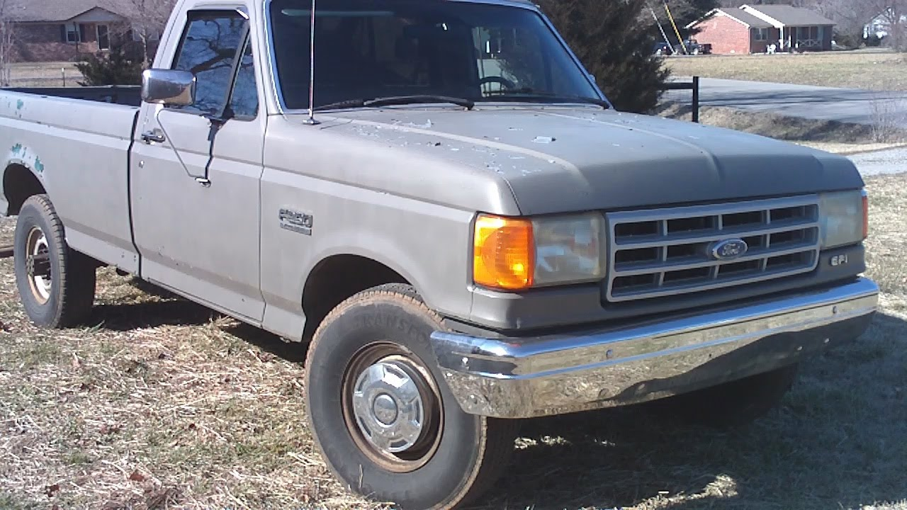 1991 Ford F-250 Hd 351w 5 8l Walk Around  Start Up  And Exhaust