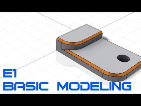 E1 Autodesk Inventor Professional 2015 - Basic Modeling 1 Tutorial