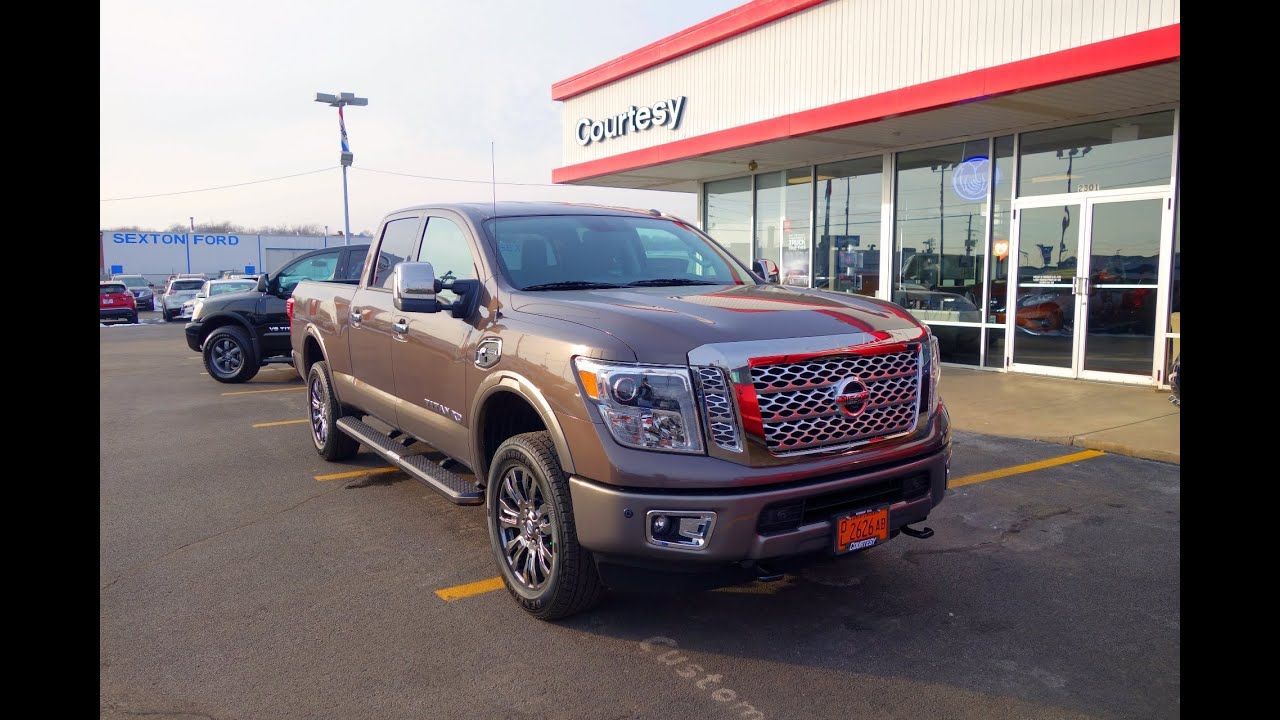 2016 2017 nissan titan xd platinum reserve 4x4 cummins diesel crew cab walkaround interior. Black Bedroom Furniture Sets. Home Design Ideas