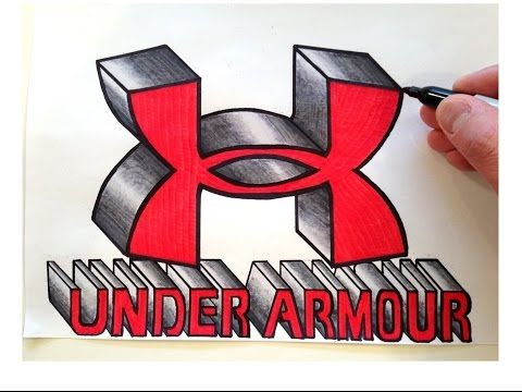 How to Draw the UNDER ARMOUR Logo in 3D