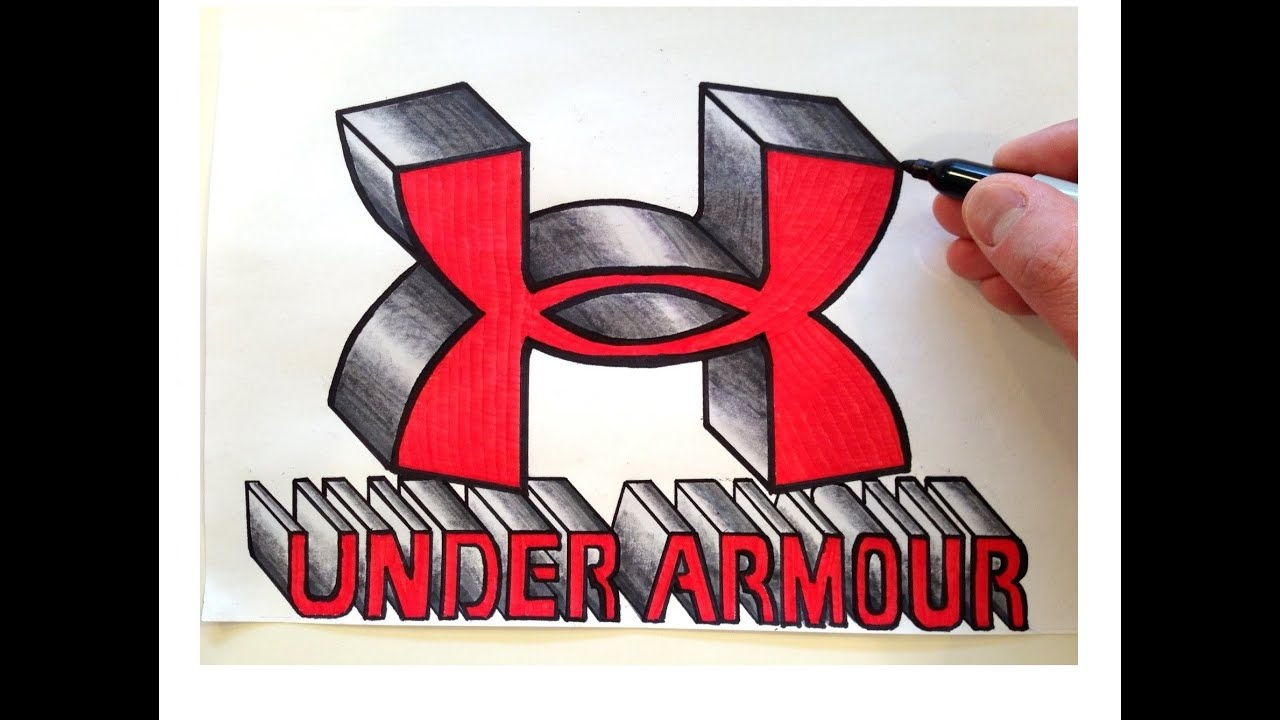 how to draw the under armour logo in 3d youtube