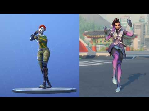 Electro Shuffle: Overwatch VS Fortnite: Comparing the same dance from different games